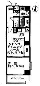 日本橋アムフラット 間取図