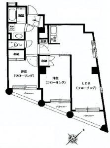 中銀第3目黒マンシオン 間取図