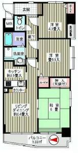 セザール東綾瀬公園 間取図