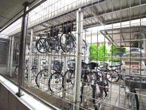 プライムコート戸山 駐輪場