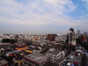 稲田永谷マンション 共用部分からみた眺望