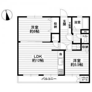成城マンション 間取図